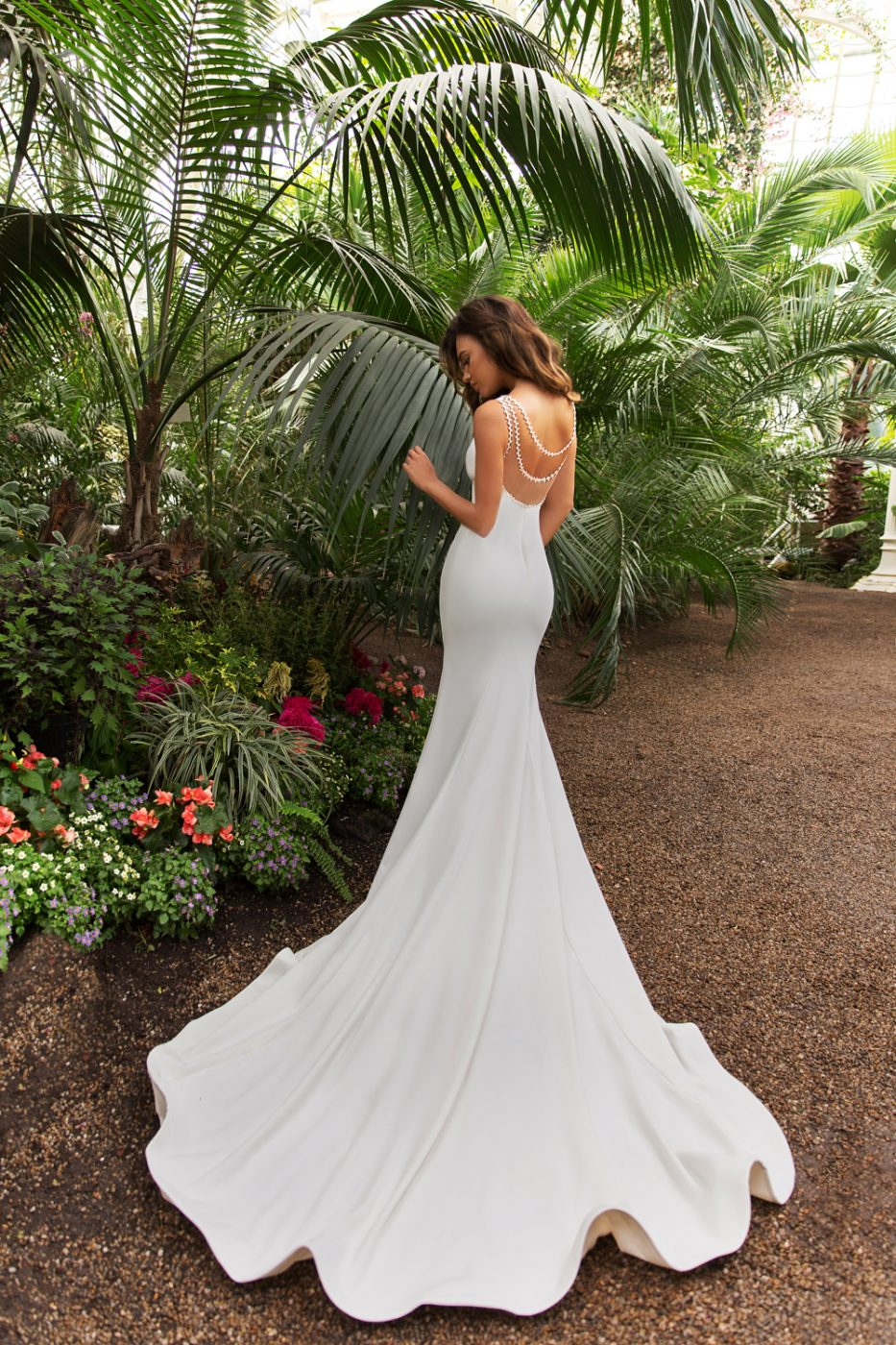 fit and flare ball gown by Crystal Design Couture