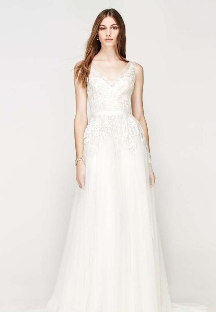 sleeveless wedding dress by willowy