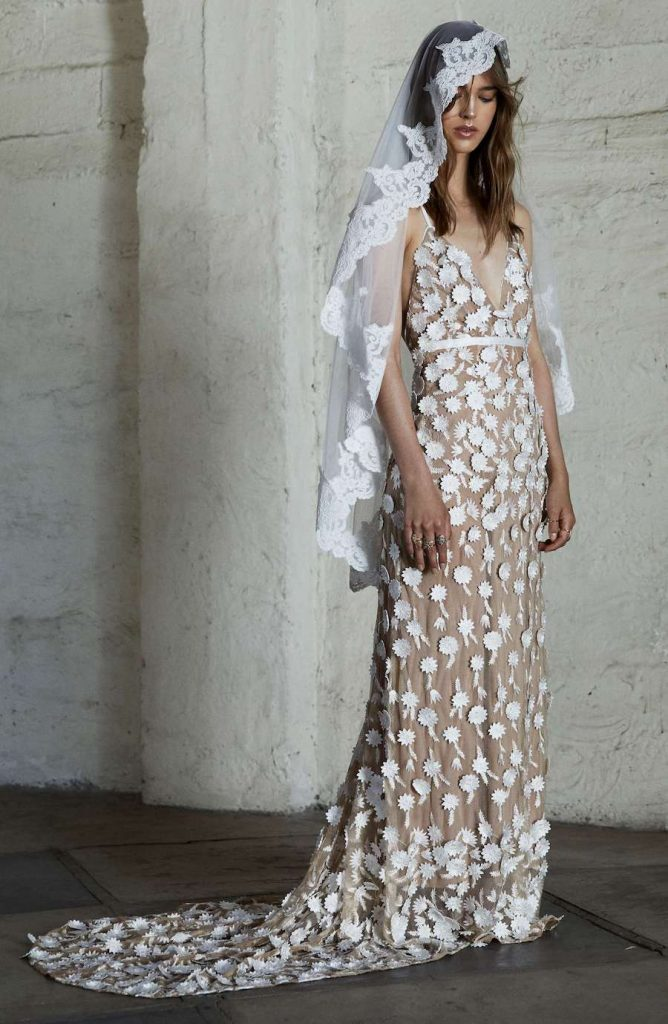 Floral Petal Gown by FOR LOVE & LEMONS