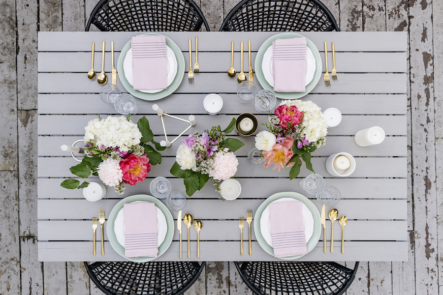 Modern Spring Tablescape for House Parties