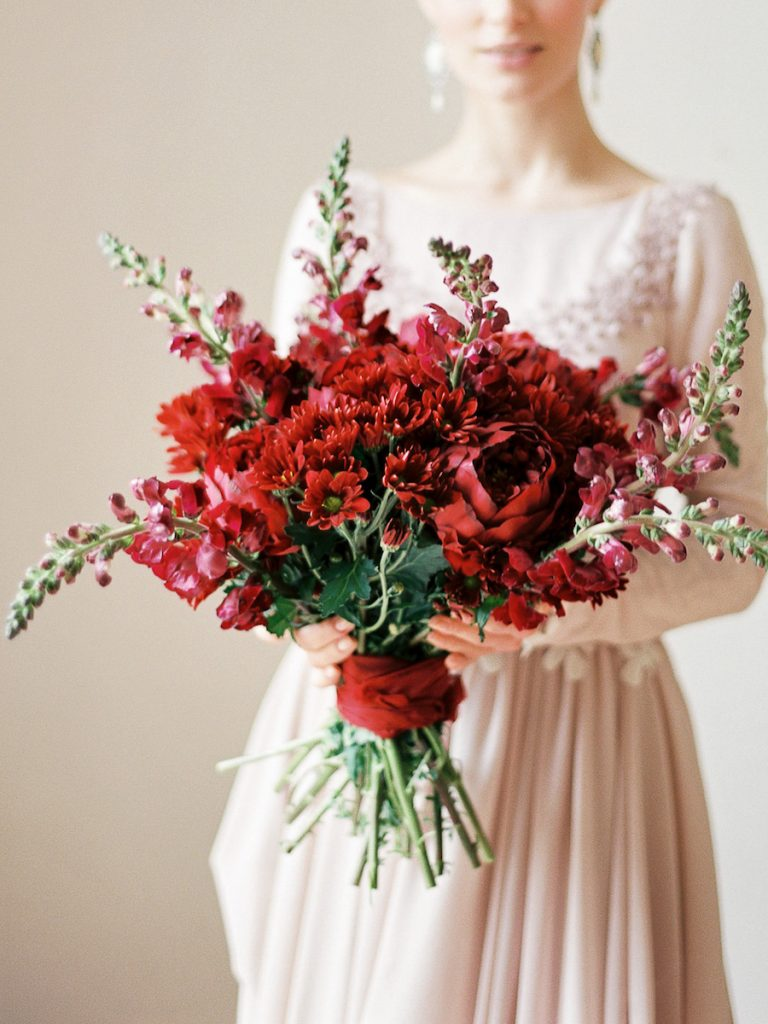 red mix bouquet