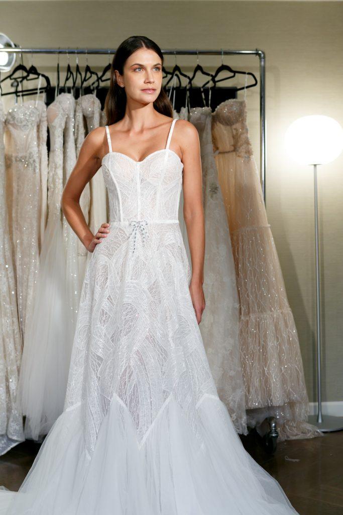 Netta BenShabu Strap Wedding Gown