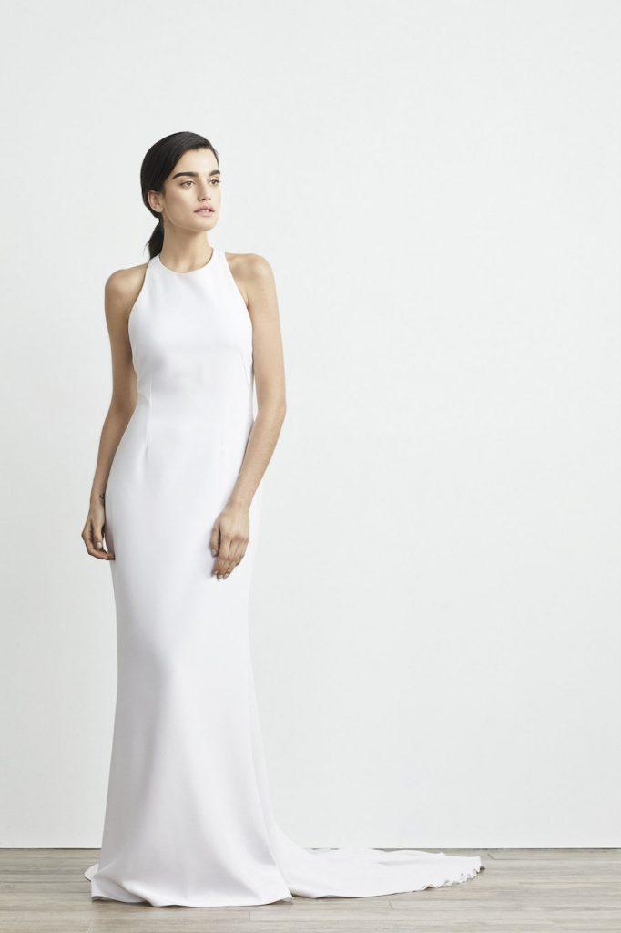Lakum halter minimalist wedding gown