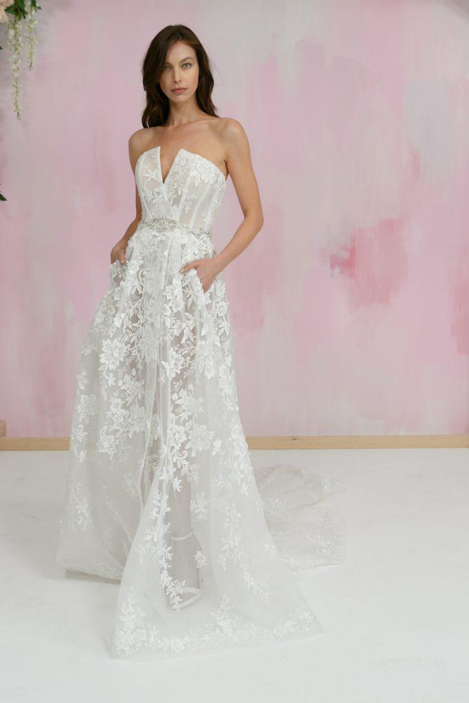 Gala by Galia Lahav strapless dress