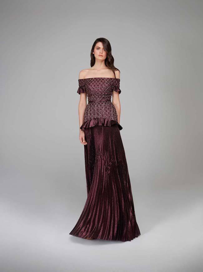 Off shoulder bridesmaid dress- Hamda Al Fahim