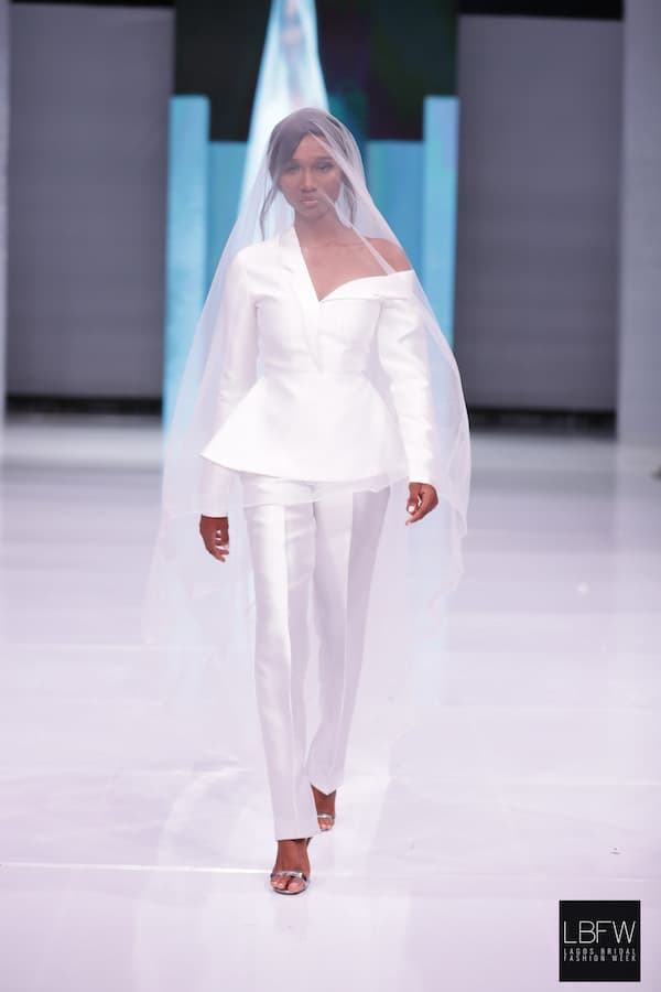 Bridal Pantsuit Imad Eduso_ Lagos Fashion Week