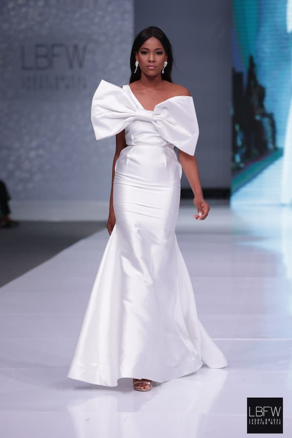 Bow front wedding gown_ Imad Eduso