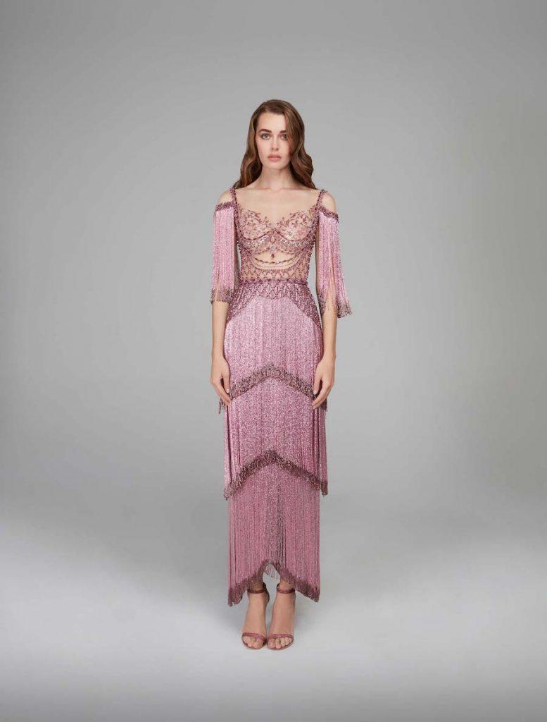 Fringe Bridesmaid Dress