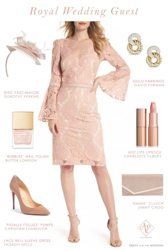 royal wedding guest outfit- blush wedding