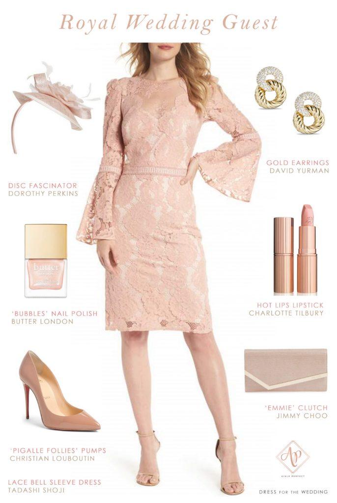 4bb2e93f769 royal wedding guest outfit- blush wedding