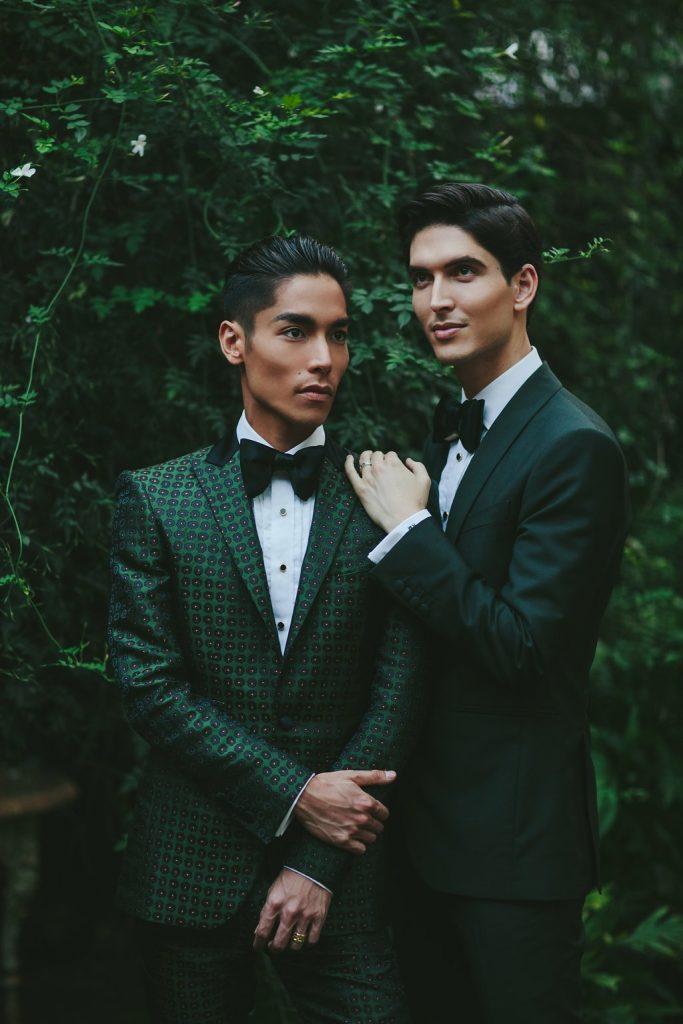 Two grooms wedding portrait