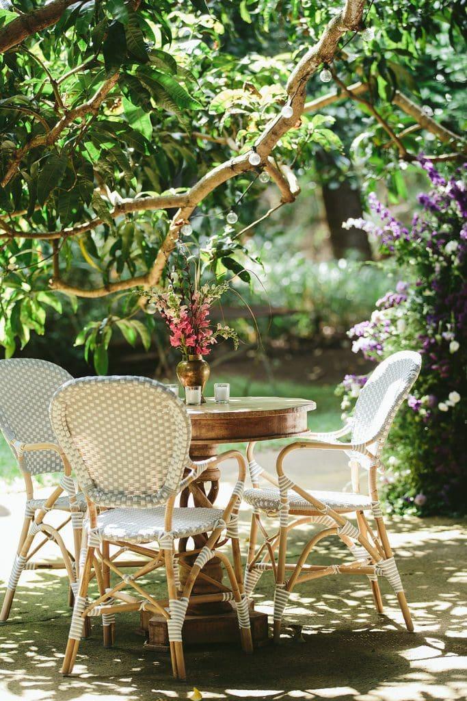 garden cocktail hour decor