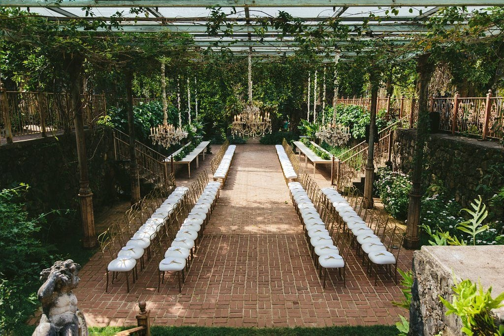 outdoor luxury wedding setup