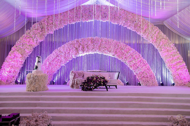 arch wedding reception decor