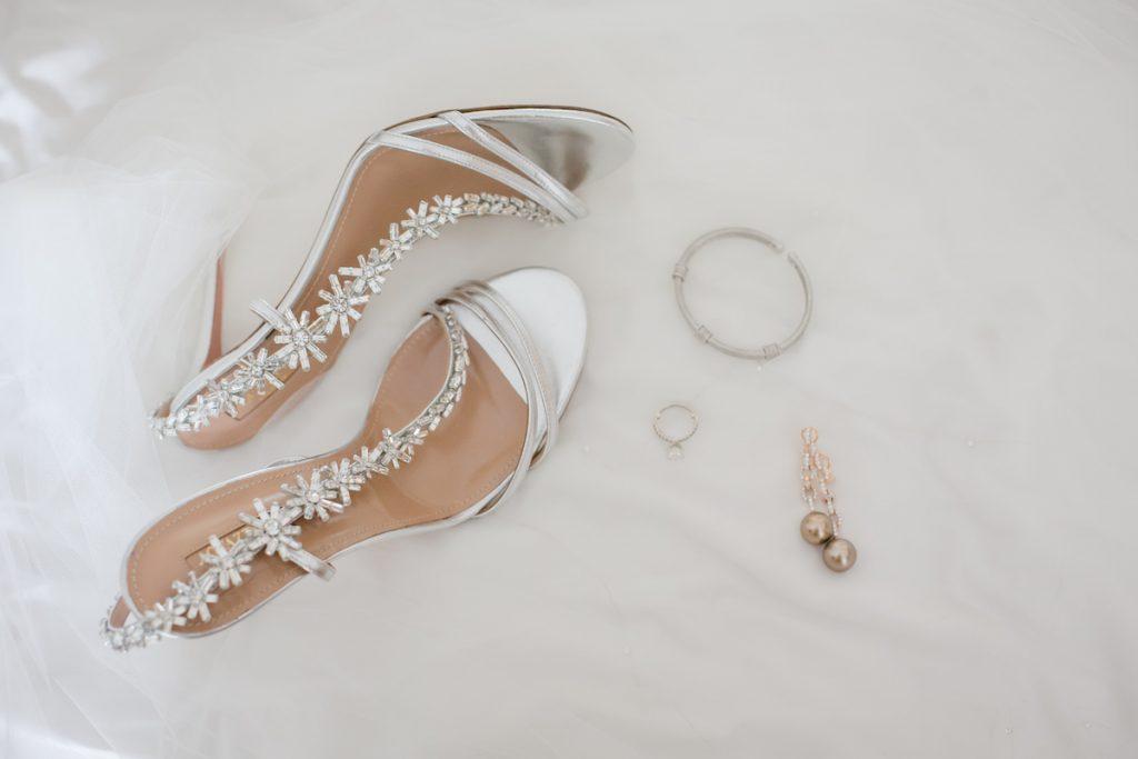 aquazzura embellished wedding shoes