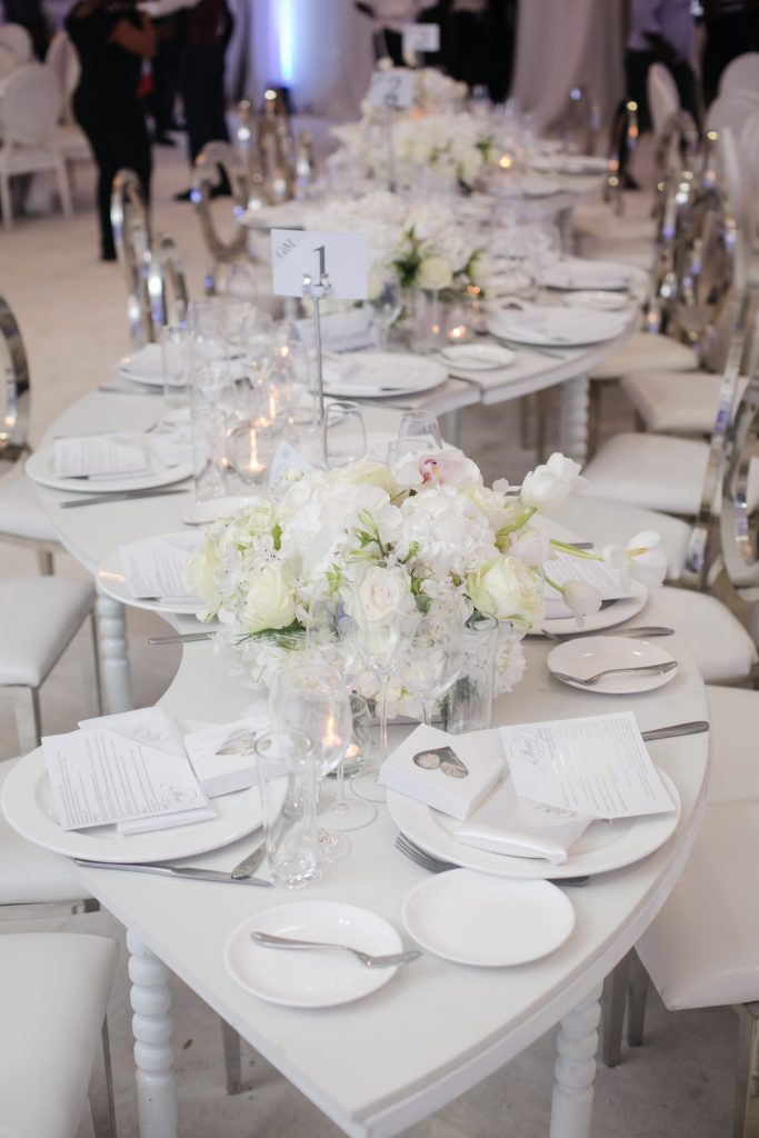 serpentine table wedding decor