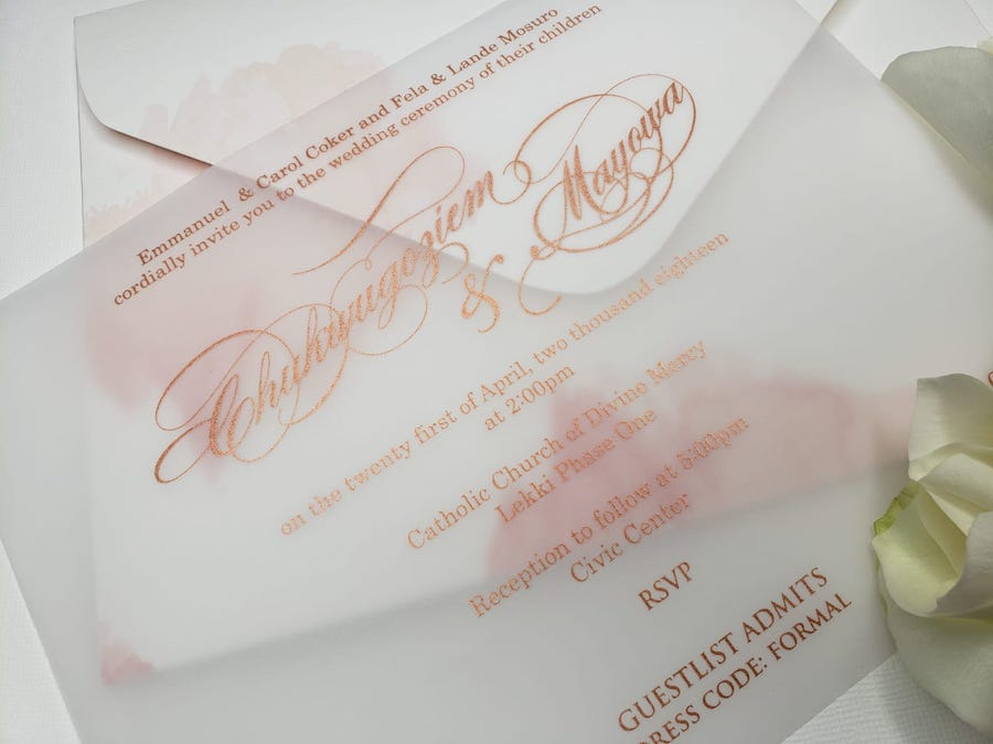 watercolor wedding invite
