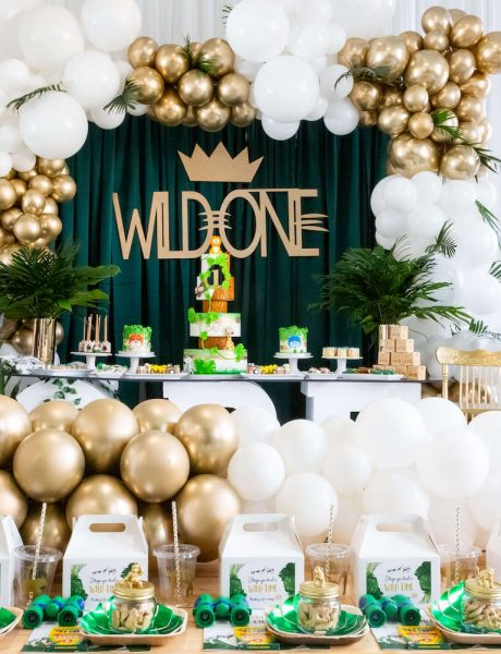 Wild One theme first birthday party 126