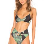 beach riot bikini top in palm print. featured on perfête shop. summer beach essentials.