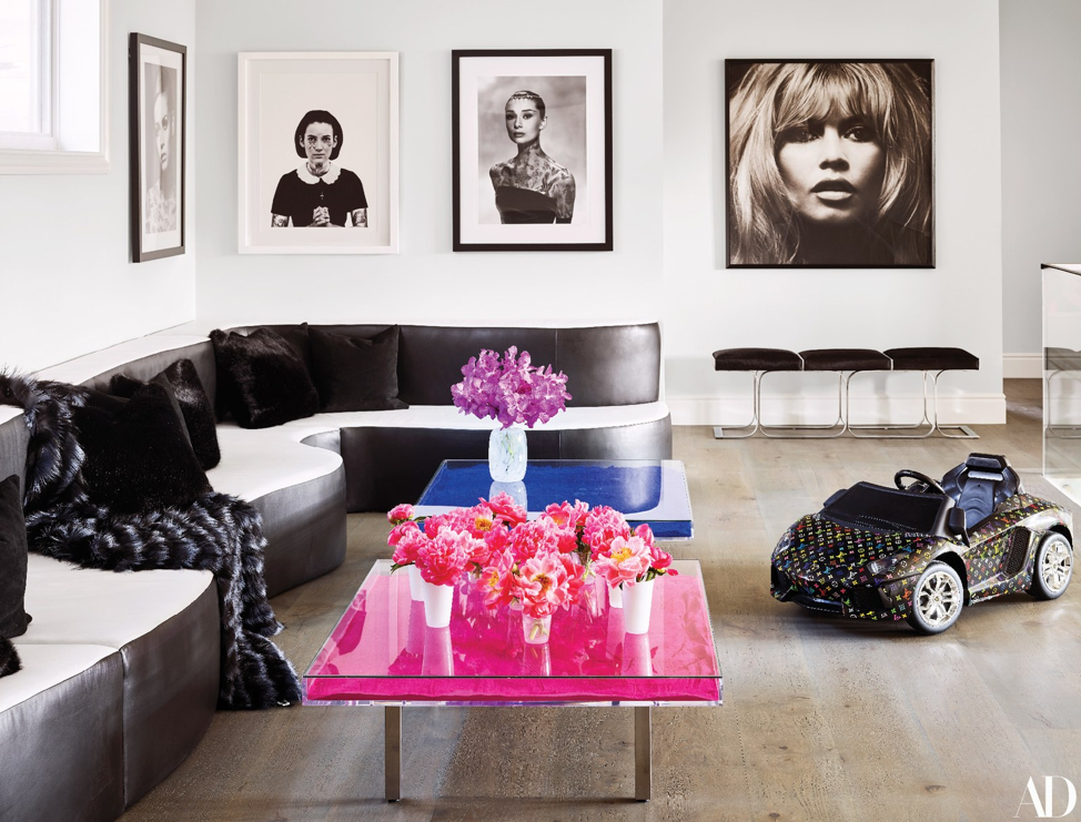 A few well-placed pieces of art make for chic living room decor.