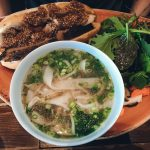 brisket banh mi sandwich with pho