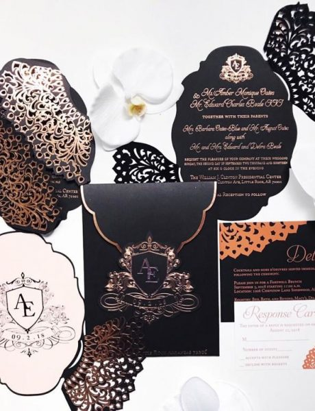 Black wedding invitation suite-odacreative