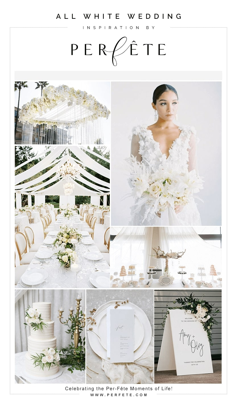 all white wedding trend for 2019