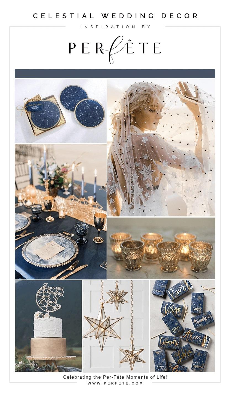Celestial wedding decor inspiration