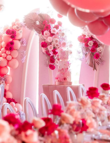 Pink Party with Balloon Garland Decor_10