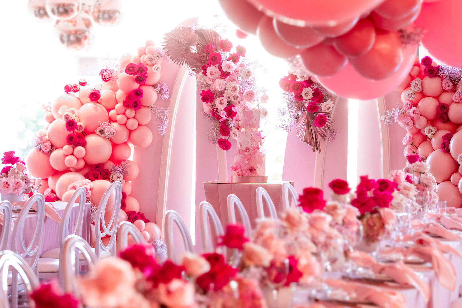 Pink Party Design Inspiration with Epic Balloon Decor - Perfete