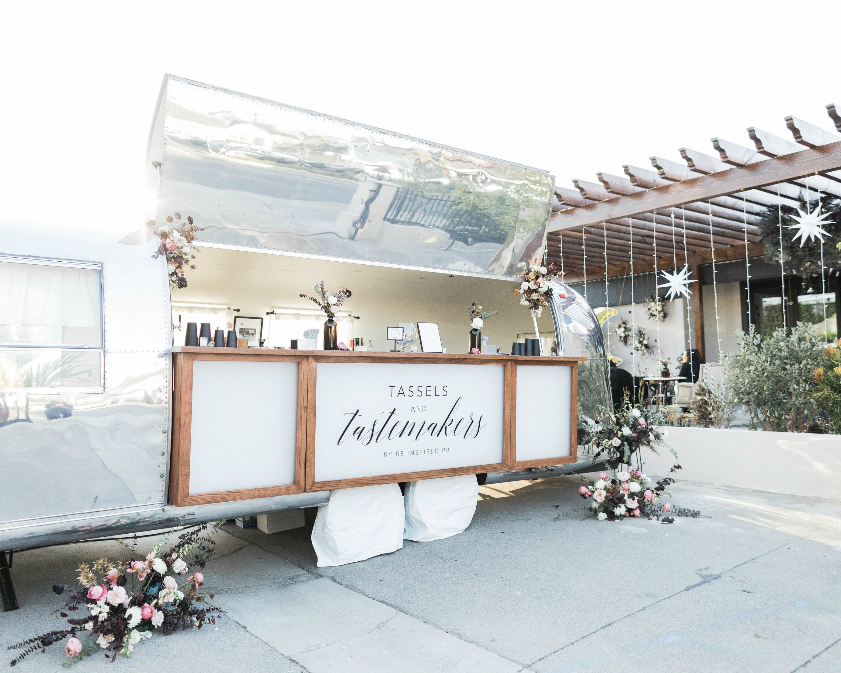sleek and smooth mobile bar is the perfect spot for a customized signature cocktail