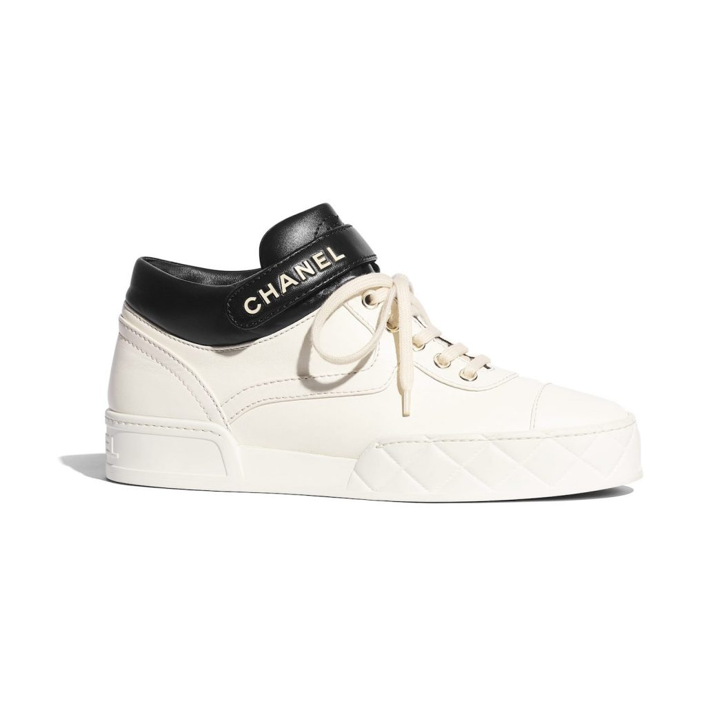 white sneakers by chanel