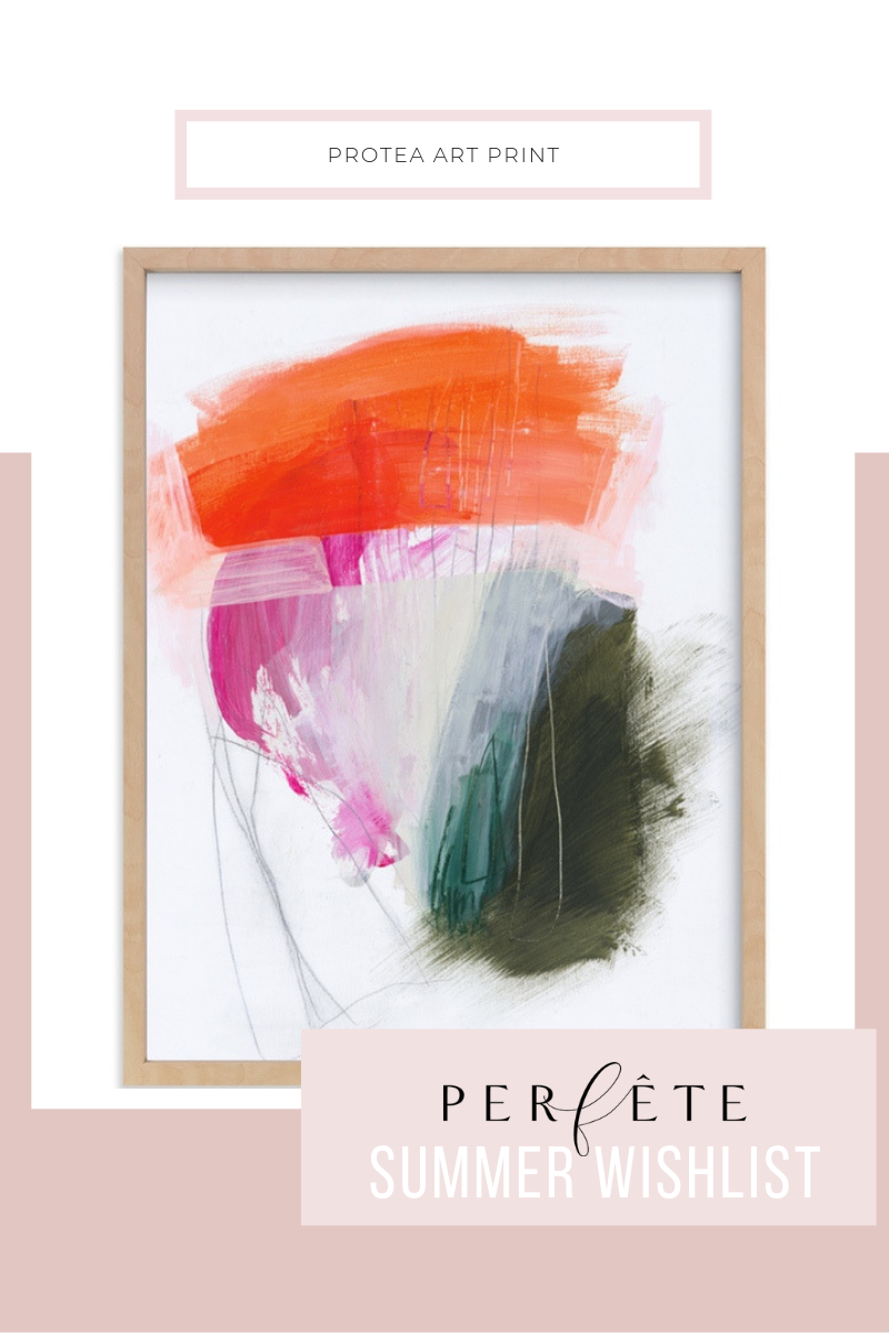 protea floral art print - colorful wall decor inspiration and ideas for the summer