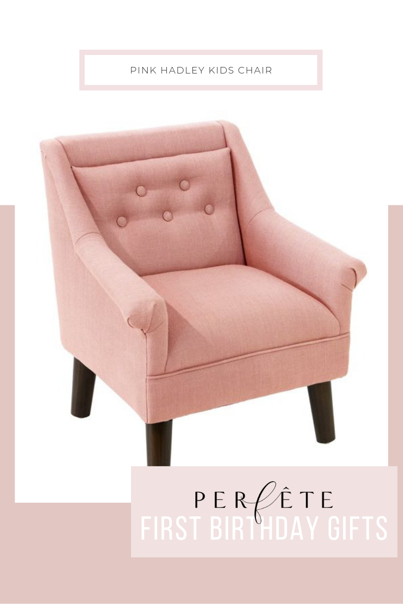 pink tufted chair for toddler kids one year old from target. hadley.