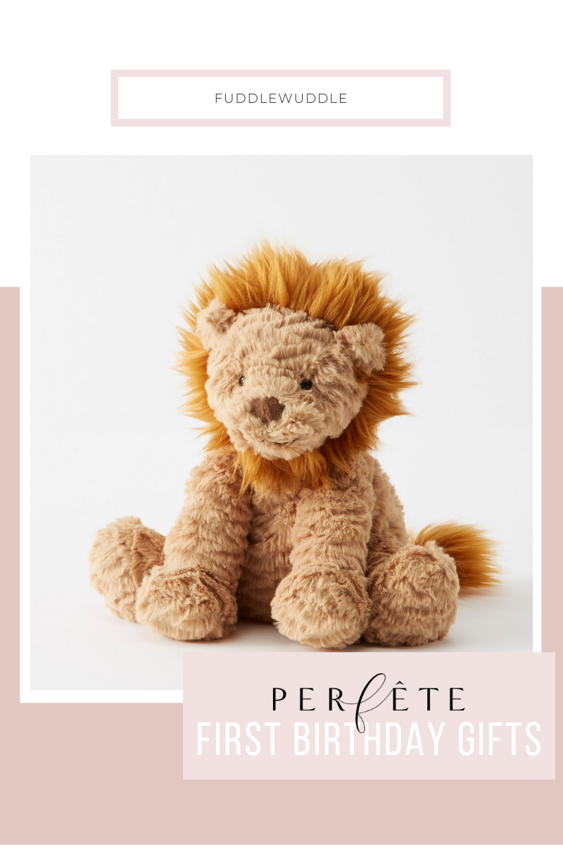 Perfête First Birthday Gift Ideas for Any One Year Old: Lion Stuffed Animal from Hanna Anderrson