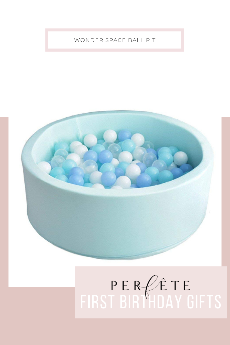 perfête gift guide for one year old - first birthday gift ideas - ball pit