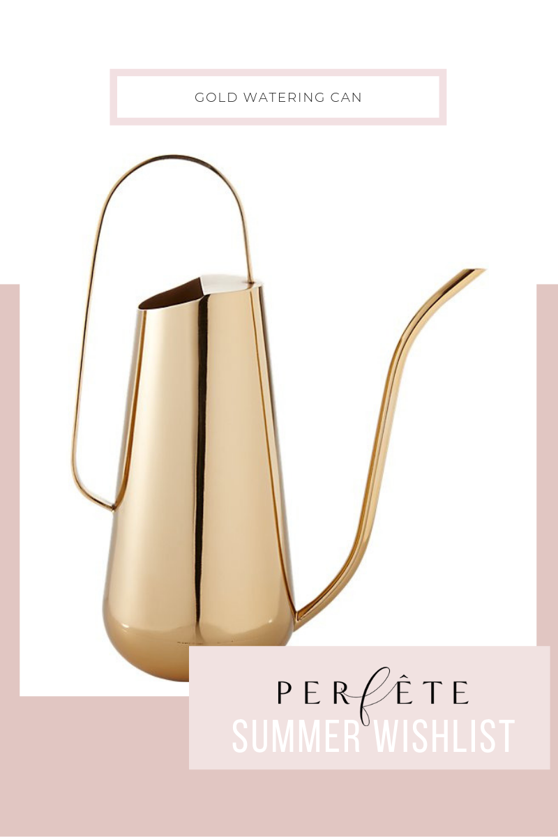 gold brass watering can - perfête summer wishlist - inspiration and ideas for summer home decor
