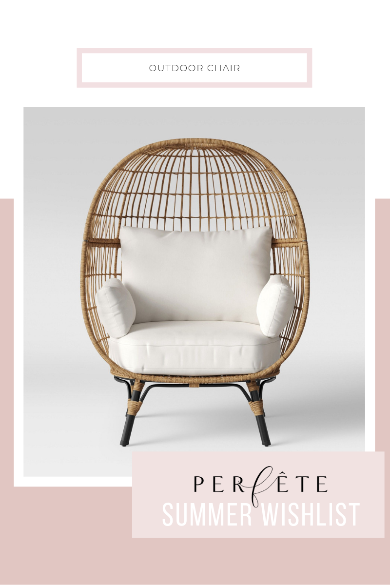 outdoor egg chair - woven with cushion