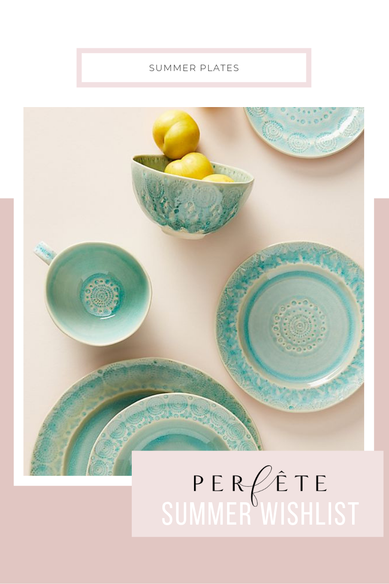 chic summer plates - set of four - from anthropologie