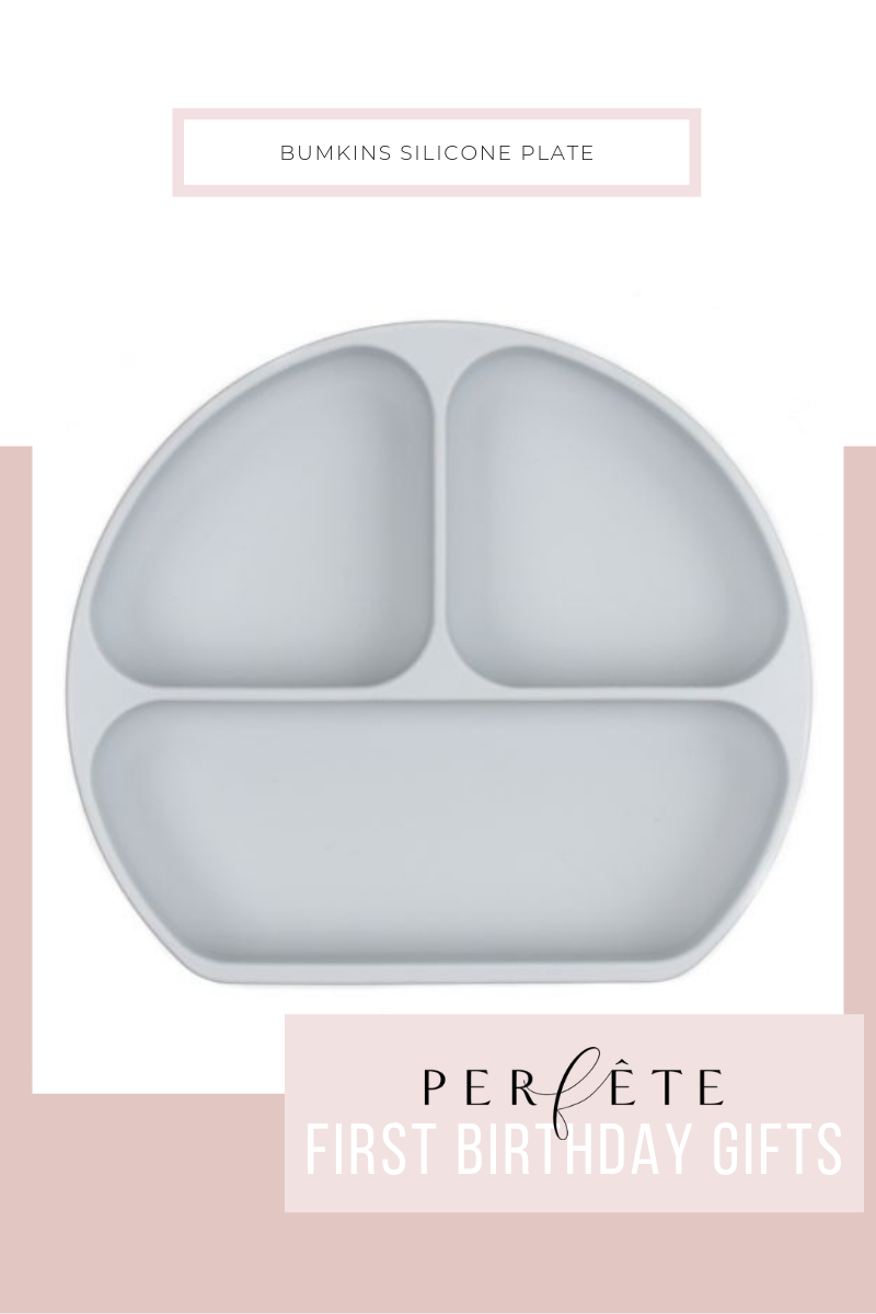 grey gray divided silicone plate for toddler 1 year birthday gift ideas