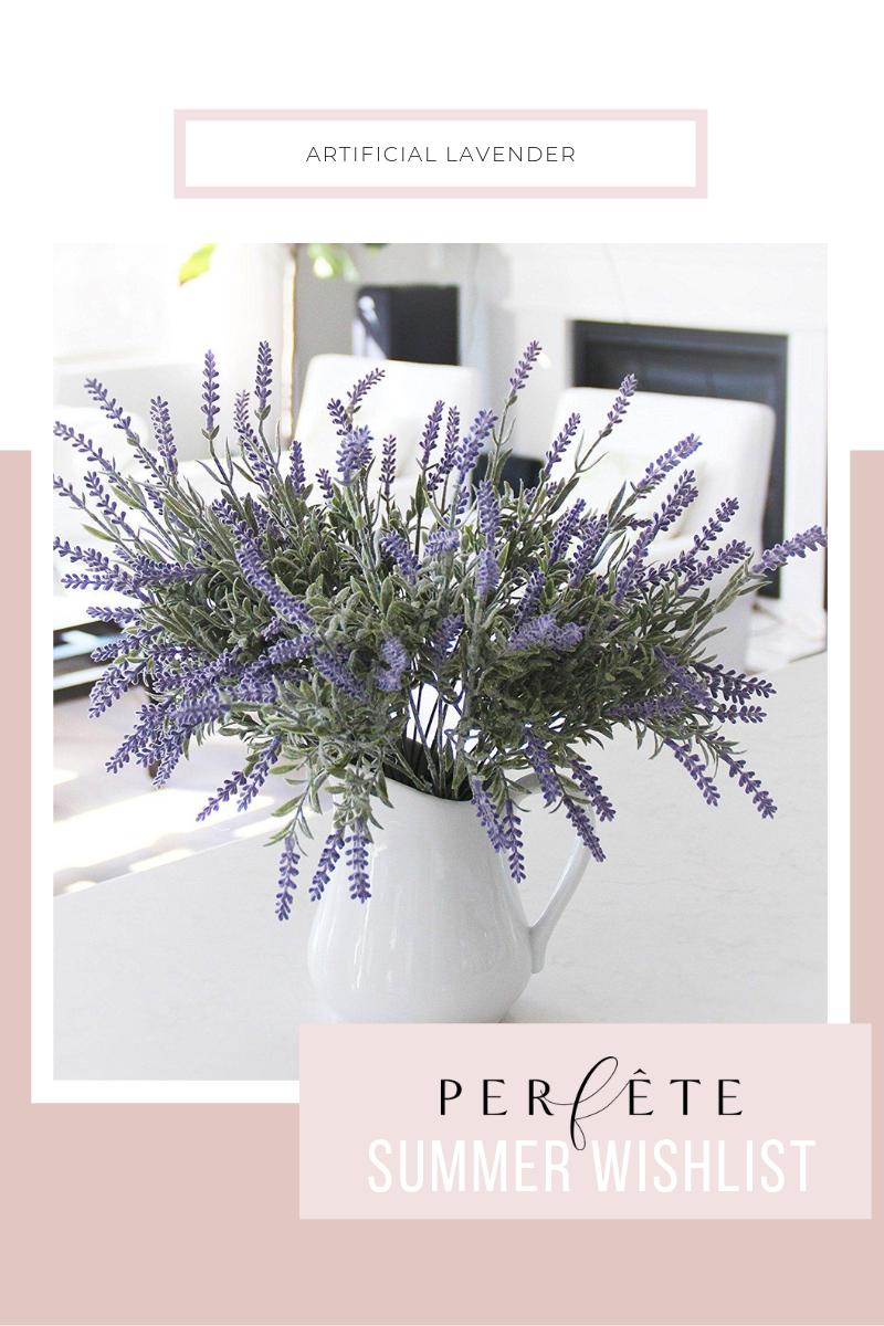 fake artificial house plant home decor lavender floral arrangement