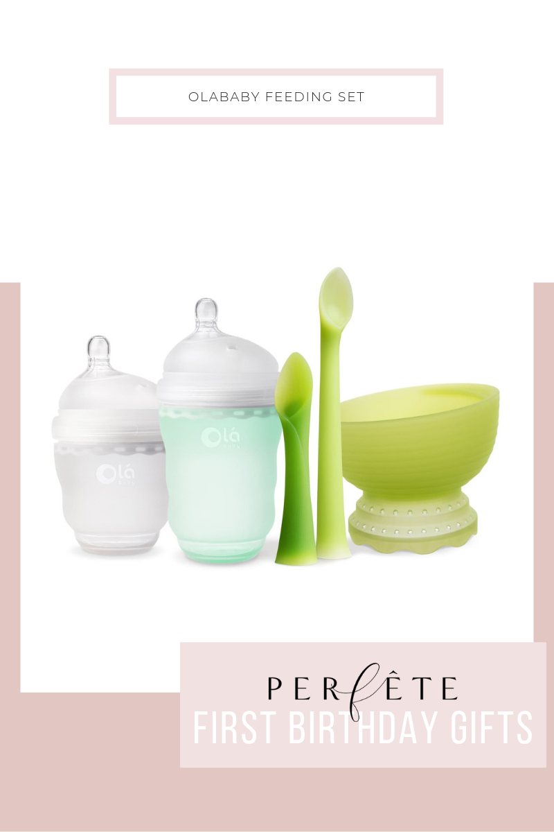 olababy feeding set - silicone spoon bowl and sippy cup perfect feeding utensils and supplies for one year old toddler 1 year old kid