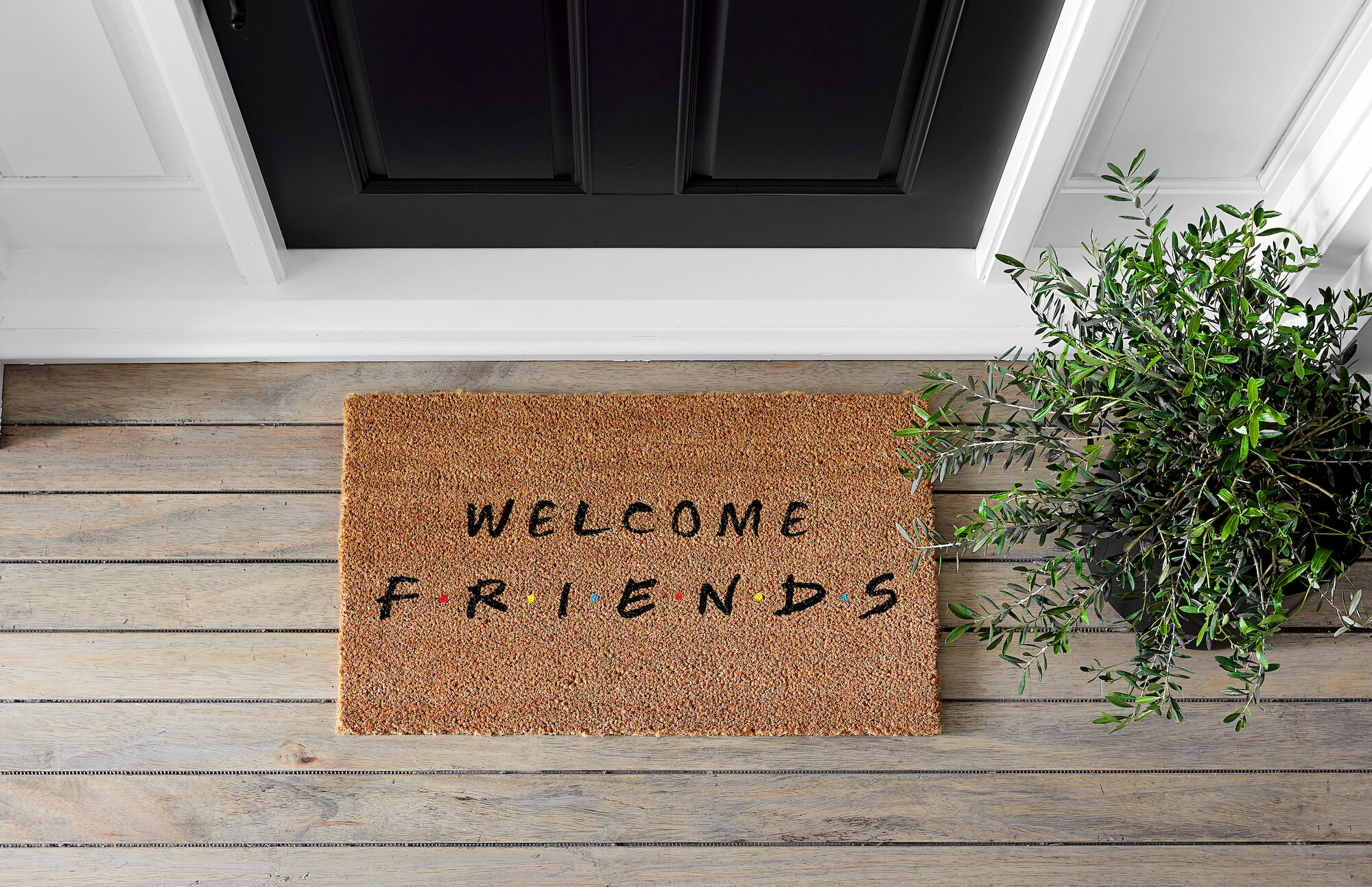 Friends Pottery Barn Doormat-2