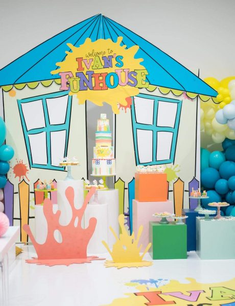 Paint Themed Funhouse Birthday Party 13