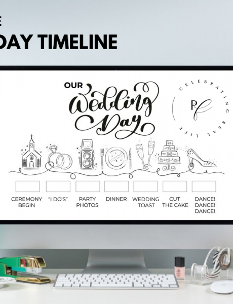 Printable Wedding Day Timeline