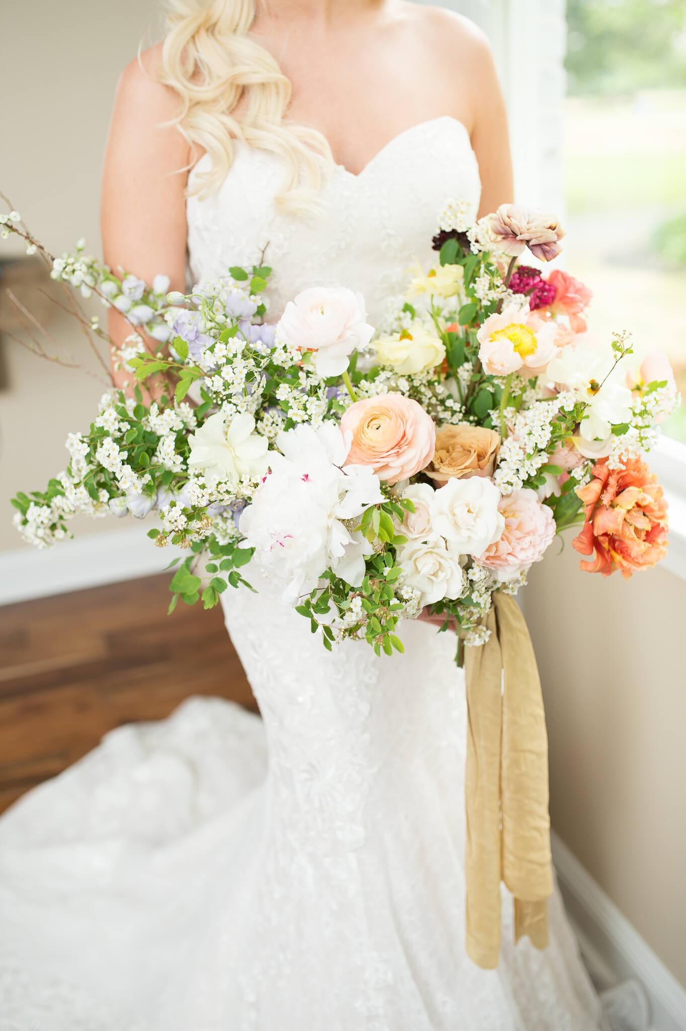 Wild Flower Greenery Bouquet Fall Wedding