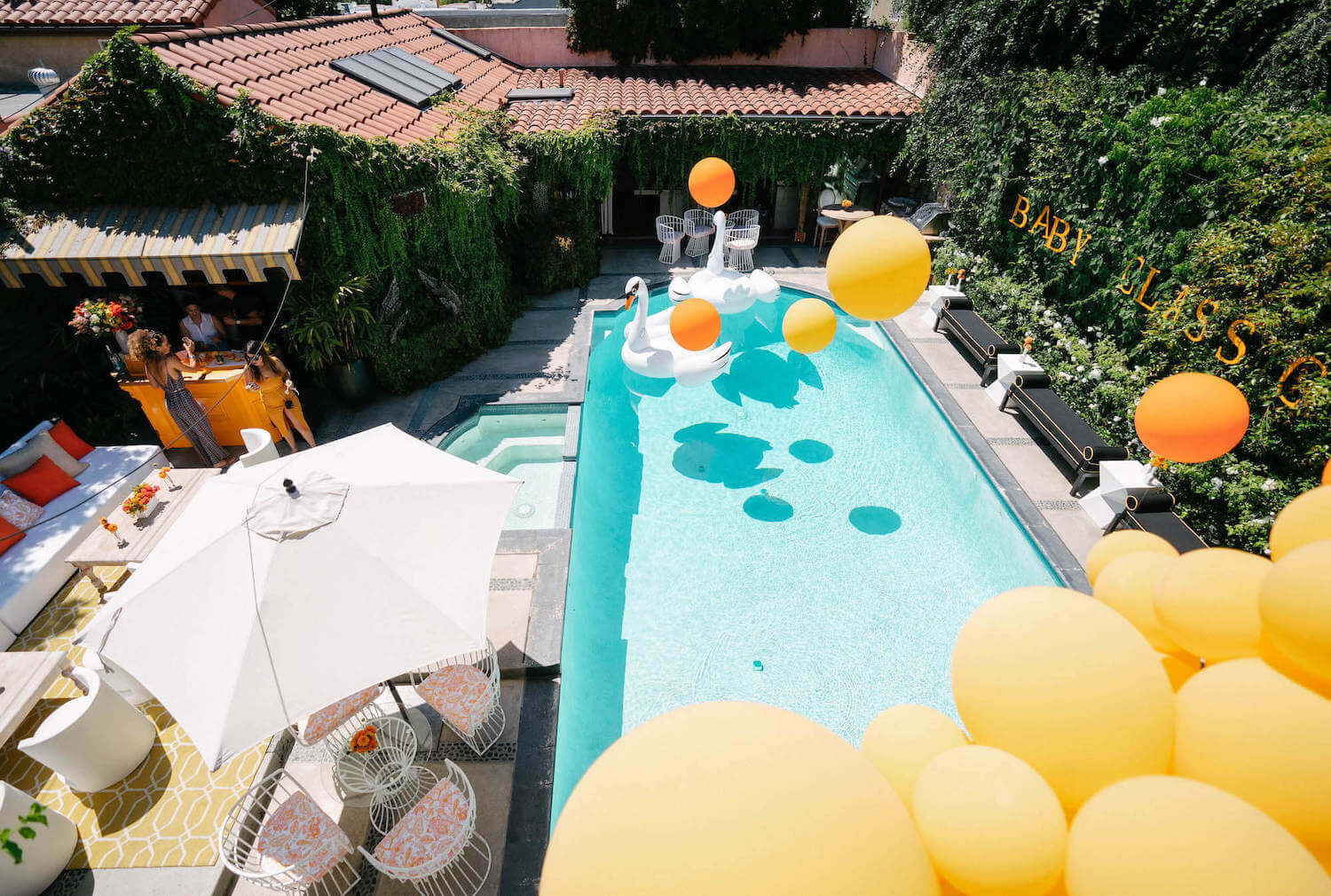 Pool baby shower Inspired by Veuve Clicquot