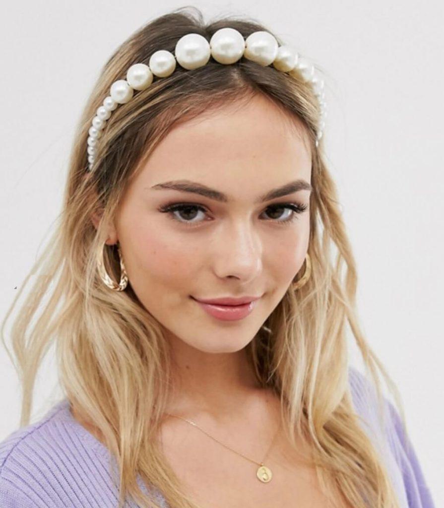 pearl headband trend