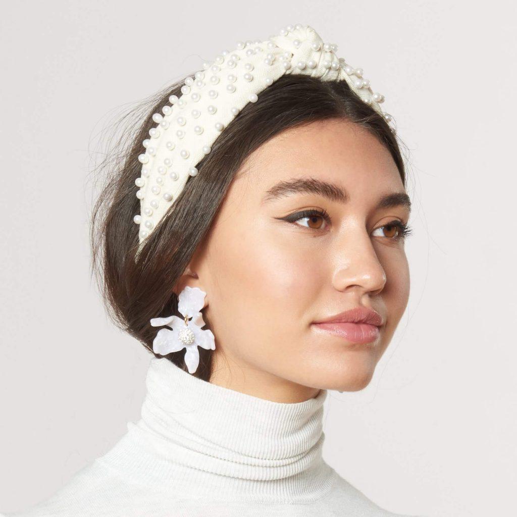 White Pearl Headband Fashion Trend