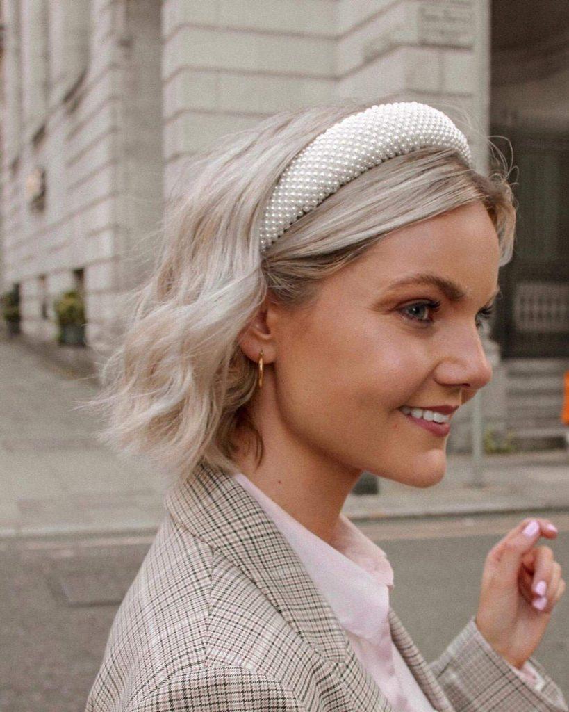 beaded pearl headband for fall fashion